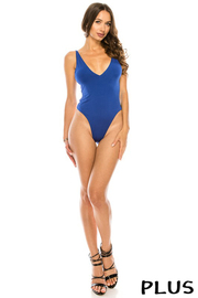 Plus Size Solid Bodysuit.