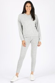 Brushed cotton longewear hoodie sweatpants set.