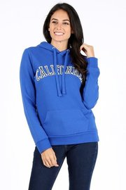 California patch fleece pullover hoodie sweatshirt.
