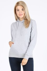 Basic plain solid french terry pullover hoodie sweatshirt.