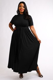 Plus Size Maxi skater dress.