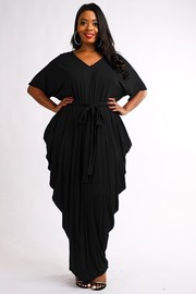 Plus Size Draped maxi dress.