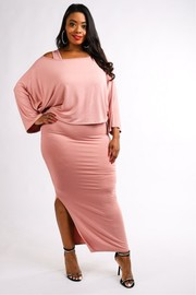 Plus Size Maxi dress set.
