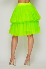 Tiered tutu skirts with lining.