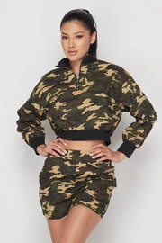 2 pcs camo short set.