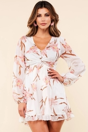 Simply chic floral print white romper.