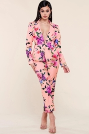 Rose garden print pink 2 piece set.