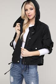 3/4 Sleeve hoodie jacket.