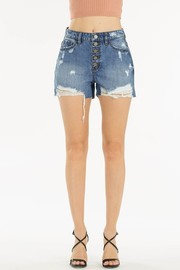 5 button denim short.