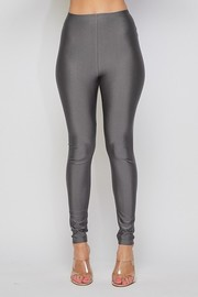 High waist basic leggings and nice silky hand and great stretch.