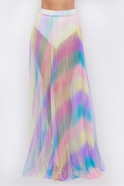 Unicorn rainbow pleated sheer skirt.