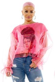 Print fashion top.
