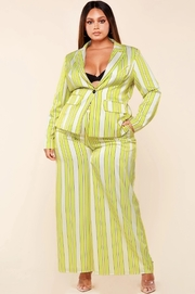 *PLUS* Yellow lime pinstripe 2 piece set
