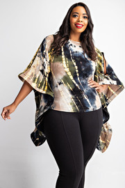 Plus Size Batwing sleeve top.