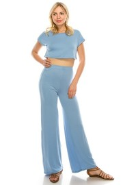 2 piece set crop top & pants.