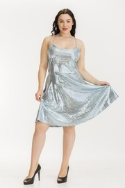 Plus Size Sequin A line dress.