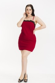Plus Size Crepe scuba spaghetti strap dress.