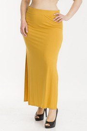 Plus Size Maxi skirt side slit.