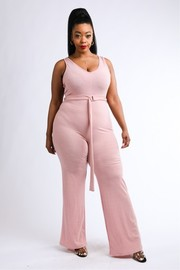 Plus Size Tank Jumpsuit.