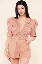 This dusty rose romper