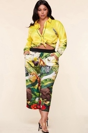 Plus Size Jungle animals print 2 piece set
