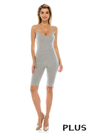 Plus Size Capri jumpsuit.