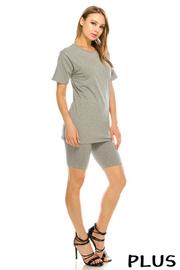 Plus Size Solid t shirt set.