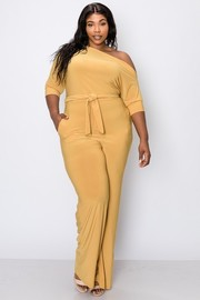Plus Size Solid jumpsuit.