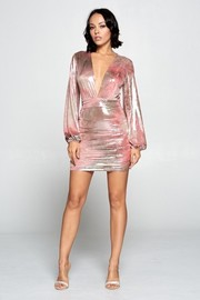 Metallic dress.