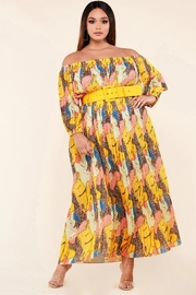 Plus Size Leopard yellow maxi dress.