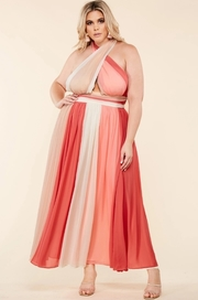 Plus Size A multicolored maxi dress