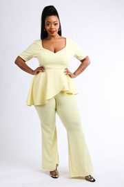 Plus Size Peplum top & pants set.