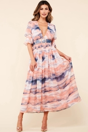 Maxi dress dipped in heavelny dyes