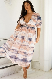 Plus Size Maxi dress dipped in heavelny dyes