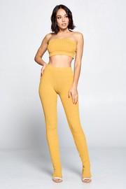 2 Piece set bra top & long pants.