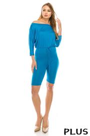 Plus Size Solid jumpsuit.