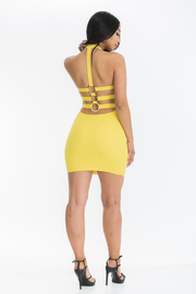 Solid cold shoulder bodycon sexy dress.