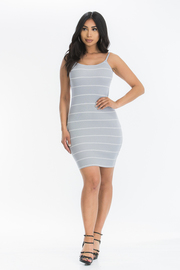 Stripe bodycon dress.