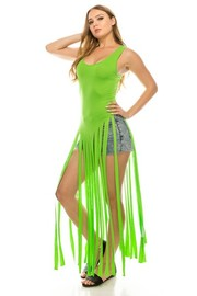 Solid Carwash fringe dress.