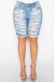 Plus Size Capri light blue wash.