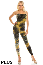 Plus Size Tiedye Tube jumpsuit.