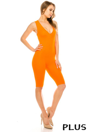 Plus Size Yoga fabric jumpsuit.