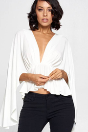 Solid Deep V neck top.