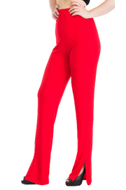 Ribbed leggings with slit detail.