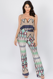 Sleeveless Print Jumpsuit