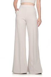 Solid palazzo Pants with side pockets and banded waist