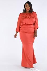 Plus Size Dolman top maxi dress.