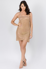 Solid Strap Dress Open Back Midi Dress