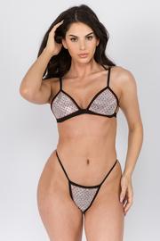 Sequin Detail Bikini Set
