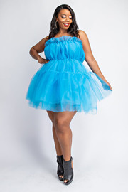 Plus Size Tube short tulle dress.